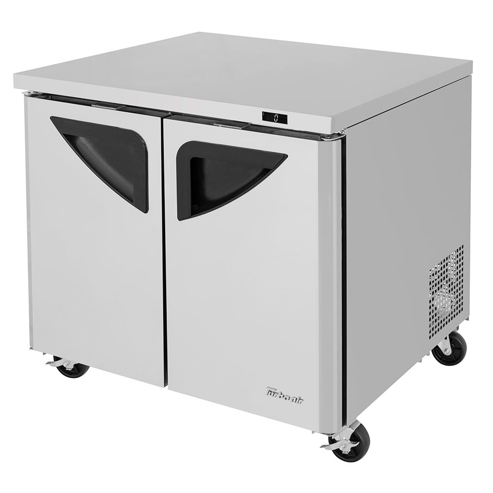 Turbo Air TUF-36SD-N 9 cu ft Undercounter Freezer w/ (2) Sections & (2) Doors, 115v