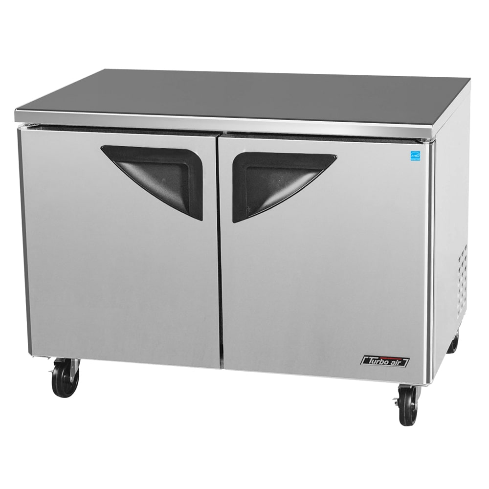 Turbo Air TUF-48SD 12 cu ft Undercounter Freezer w/ (2) Sections & (2) Doors, 115v