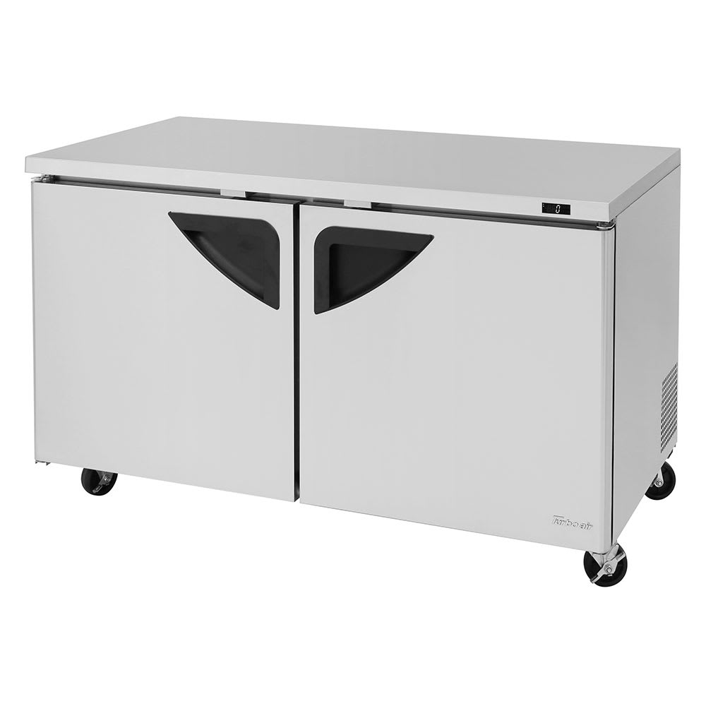 Turbo Air TUF-60SD-N 15.5 cu ft Undercounter Freezer w/ (2) Sections & (2) Doors, 115v