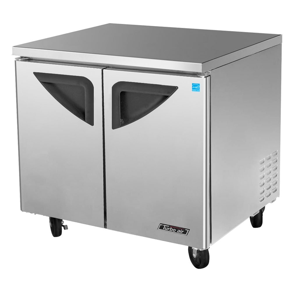 Turbo Air TUR-36SD 9-cu ft Undercounter Refrigerator w/ (2) Sections & (2) Doors, 115v