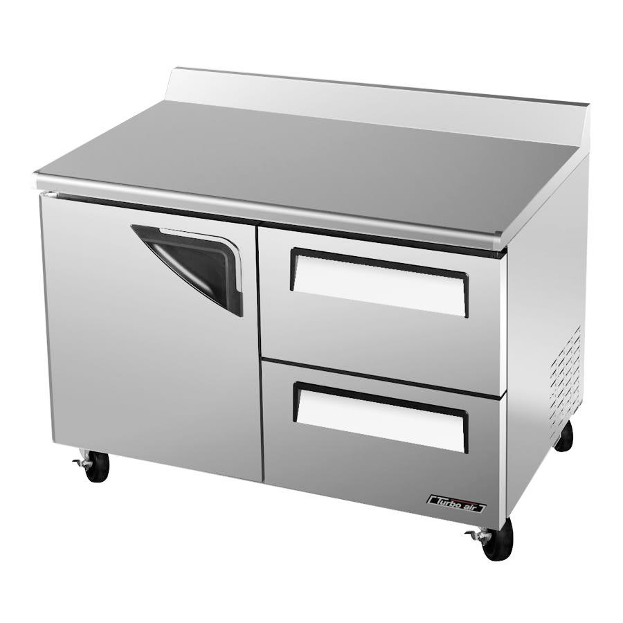 Turbo Air TWF-48SD-D2 12 cu ft Worktop Freezer w/ (2) Sections & (1) Door, (2) Drawers, 115v