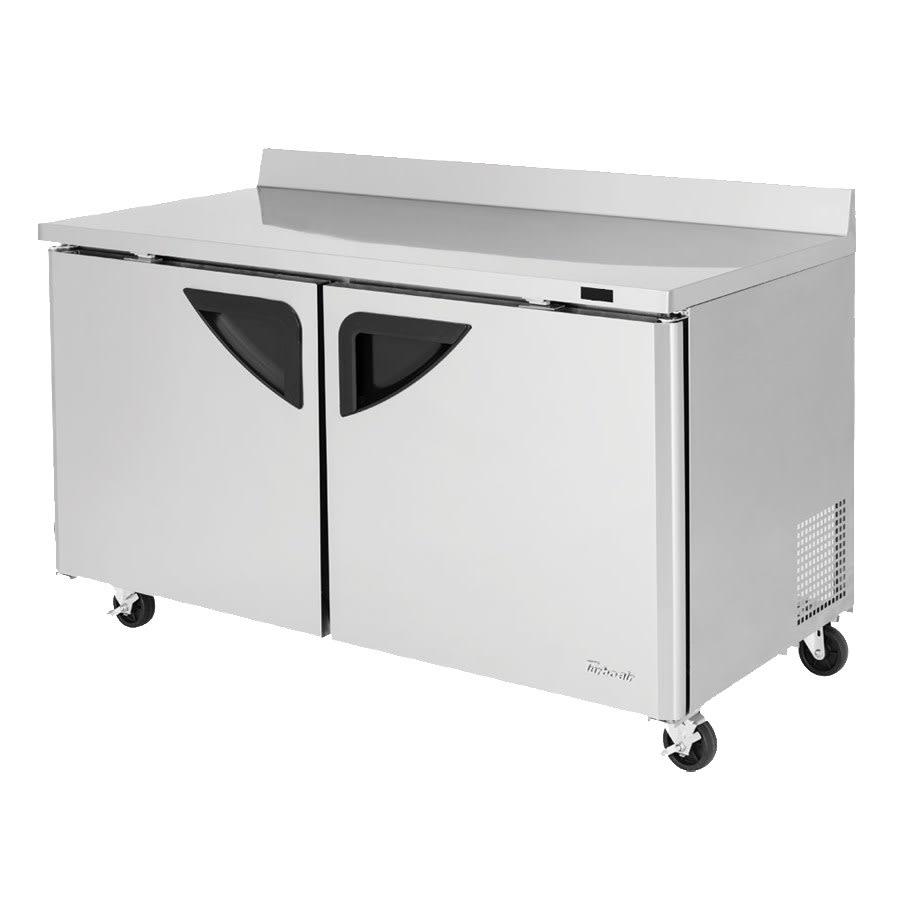 Turbo Air TWF-60SD-N 16 cu ft Worktop Freezer w/ (2) Sections & (2) Doors, 115v