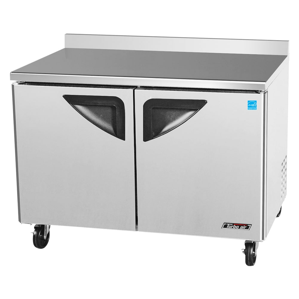 """Turbo Air TWR-48SD 49"""" Worktop Refrigerator w/ (2) Sections, 115v"""