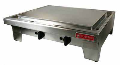 "CookTek MPL362CR-400 36"" Countertop Induction Plancha - Chrome Plate, 400v"