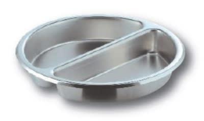 CookTek RDSSI02 6.5-Liter Large Round Insert, Split Pan, Stainless