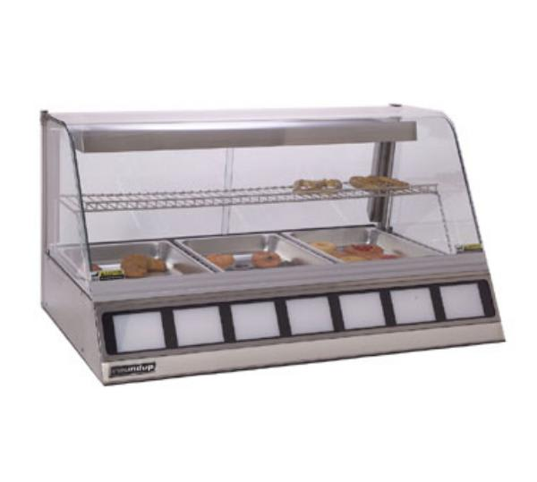 "Antunes DCH-300 42.5"" Full-Service Countertop Heated Display Case w/ Curved Glass - (3) Pan Capacity, 120v"