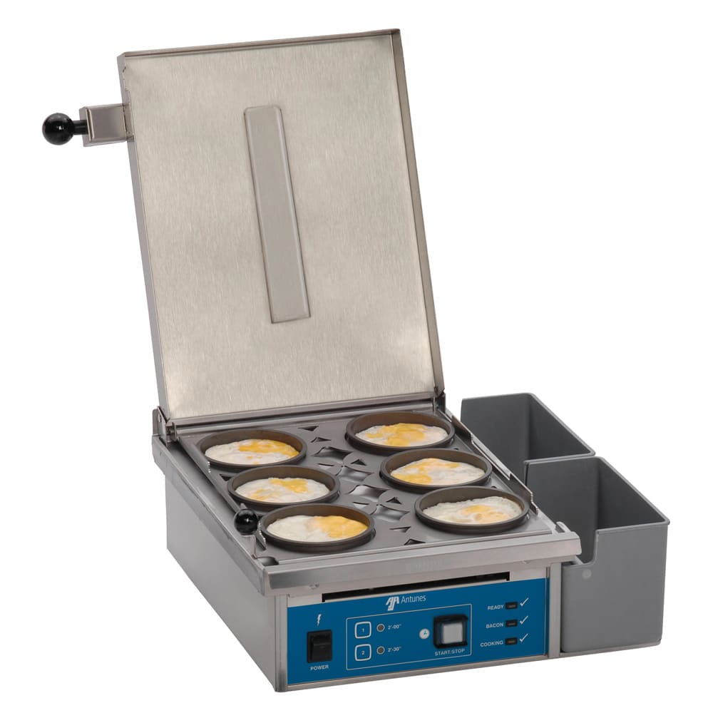 Antunes ES-604 Heat/Steam Egg Station Combo, Cooks 6 Eggs Max, 208V