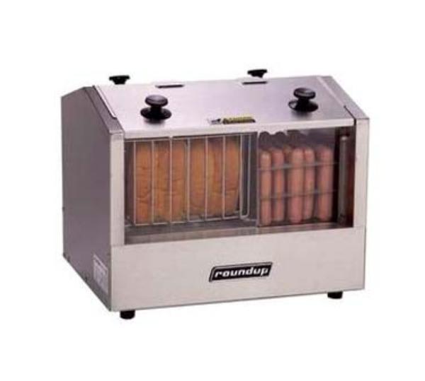 Antunes HDH-3 Hot Dog Steamer w/ 33 Hot Dog Capacity & 20 Bun Warmer, 7 qt Water
