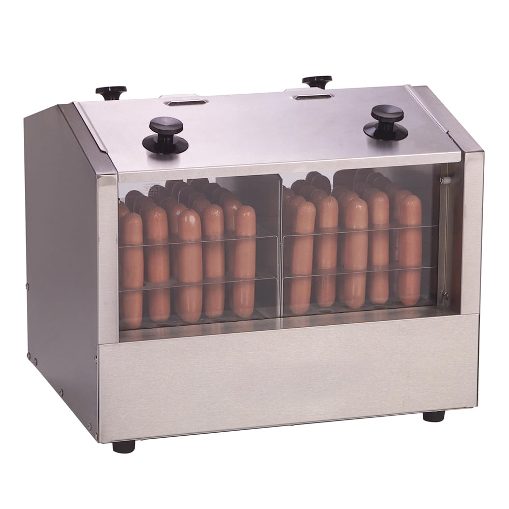 Antunes HDH-3DR Hot Dog Steamer w/ 2 Compartments & 66 Hot Dog Capacity, 7 qt Water