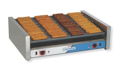 Roundup RR75 75 Hot Dog Roller Grill - Slanted Top, 120v