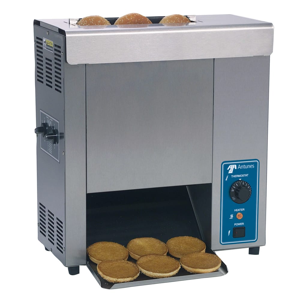 Roundup VCT-1000_9210714 Vertical Toaster w/ 17-Sec Pass-Thru Time & 2-Sided Toasting, 120v