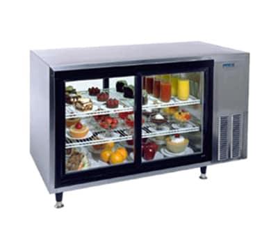 "Silver King SKDC48PTC1 48"" Countertop Refrigerator w/ Pass Thru Access - Sliding Door, Stainless, 115v"