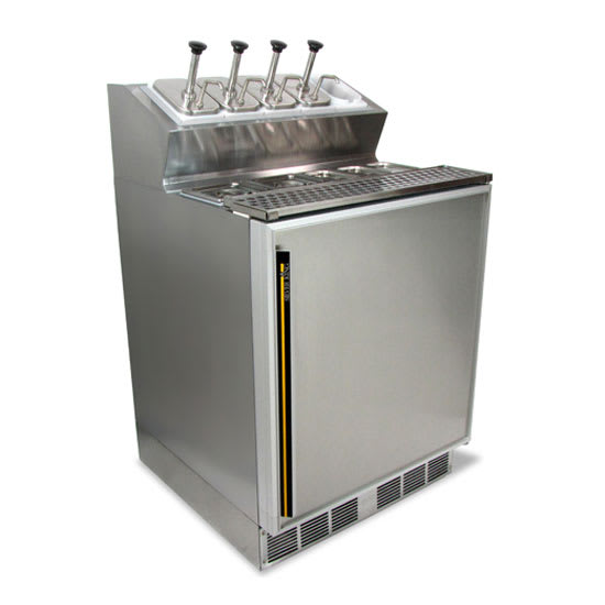 "Silver King SKFSM/CUK7 27"" Ice Cream Topping Unit w/ Refrigerated Base - Stainless, 230v/1ph"