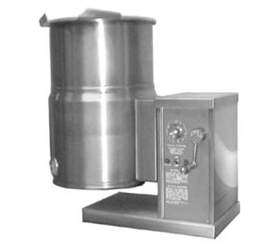 Accutemp ACECT-10 10-gal Countertop Tilt Kettle w/Crank, 240v/1ph