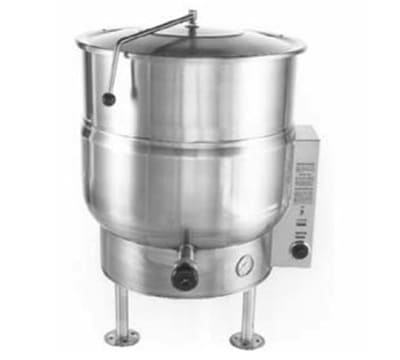 Accutemp ACEL-40 40 gal Stationary Steam Kettle w/ 2/3 Steam Jacket, Stainless, 220v/1ph