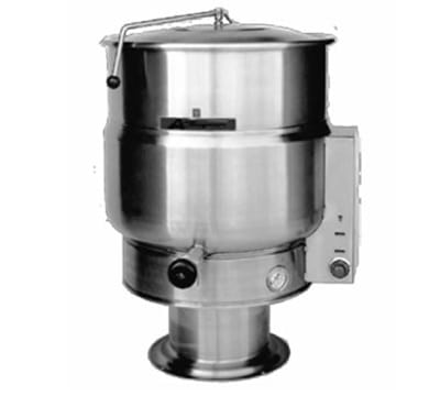 Accutemp ACEP-20 20-gal Stationary Steam Kettle w/ 2/3-Steam Jacket, Stainless, 240v/3ph