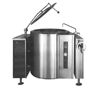 Accutemp ACGLT-60 LP Twin Console Tilting Kettle w/ 60-gal Capacity, Manual Tilt, Stainless, LP