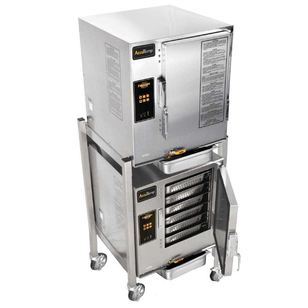 Accutemp E62401D060DBL Electric Floor Model Steamer w/ (12) Full Size Pan Capacity, 240v/1ph