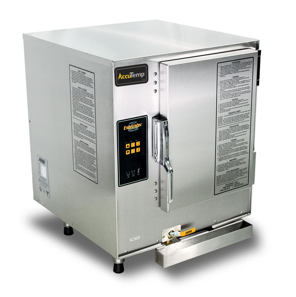 Accutemp E62403E110 Electric Countertop Steamer w/ (6) Full Size Pan Capacity, 240v/3ph