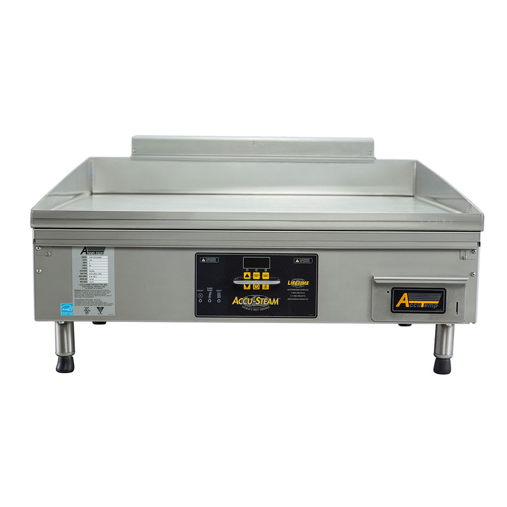 "Accutemp GGF1201A2450-T1 24"" Electric Griddle - Thermostatic, 1"" Steel Plate"