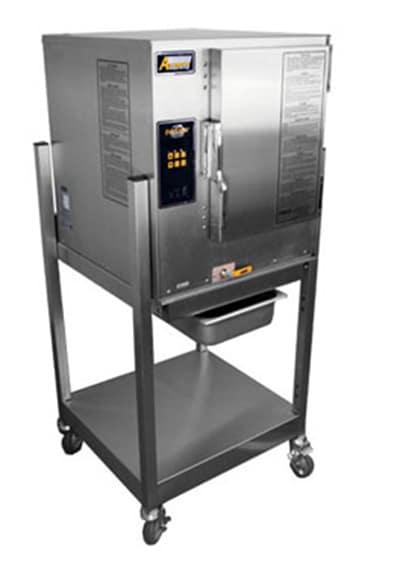 Accutemp N61201D060SGL Gas Floor Model Steamer w/ (6) Full Size Pan Capacity, NG