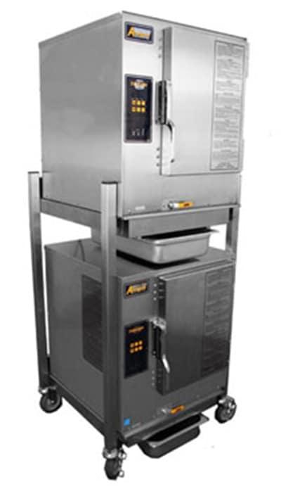 Accutemp P61201D060DBL Gas Floor Model Steamer w/ (12) Full Size Pan Capacity, LP