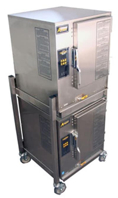 Accutemp P61201E060DBL Gas Floor Model Steamer w/ (12) Full Size Pan Capacity, LP