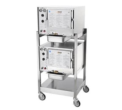 Accutemp S32083D100DBL Electric Floor Model Steamer w/ (6) Full Size Pan Capacity, 208v/3ph