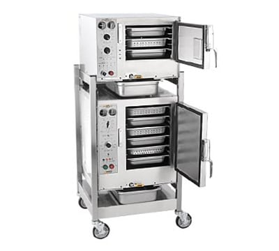 Accutemp S3/S62081D060 Countertop Convection Steamer holds (3) Full Size Pans, Boilerless, 208v/1ph