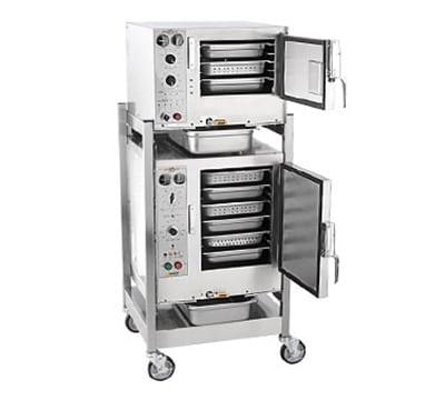 Accutemp S3/S62403D110 Electric Floor Model Steamer w/ (9) Full Size Pan Capacity, 240v/3ph