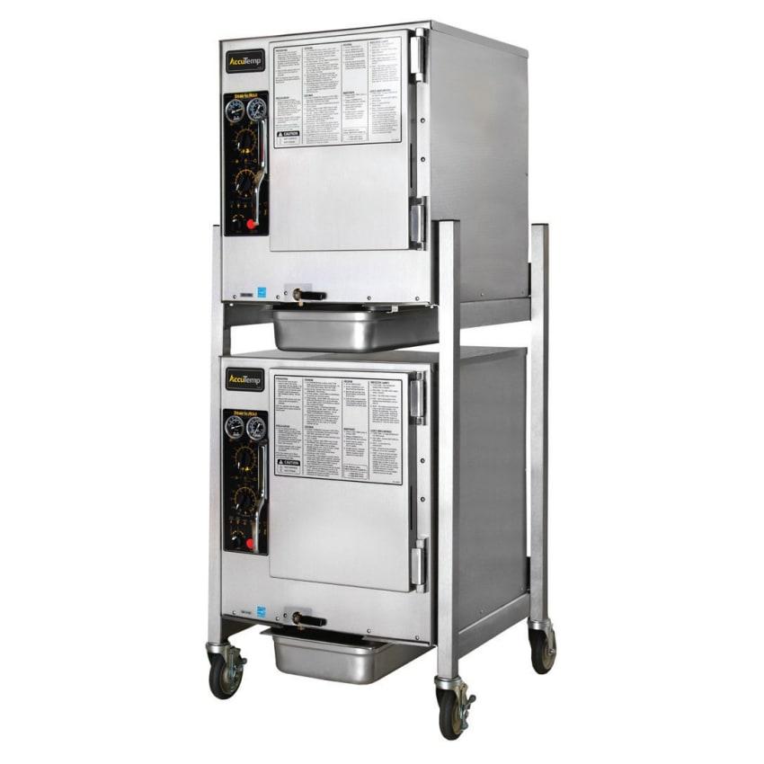 Accutemp S62083D120DBL Electric Floor Model Steamer w/ (12) Full Size Pan Capacity, 208v/3ph