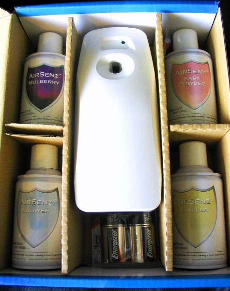 Control Zone F050 Odor Zone Kit, Includes 1 Dispenser, 4 Fragrances, 2 Batteries