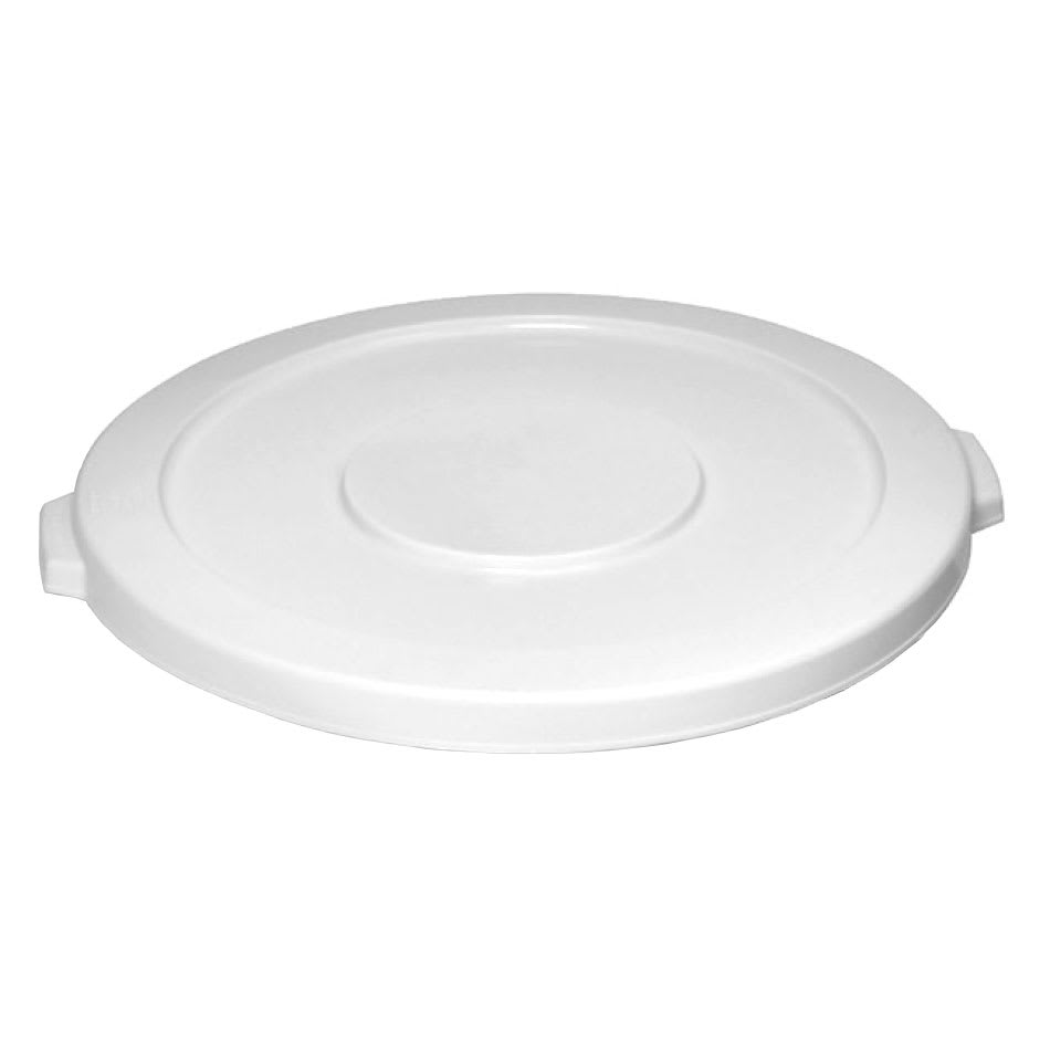 Continental 2001WH Round Flat Trash Can Lid - Plastic, White