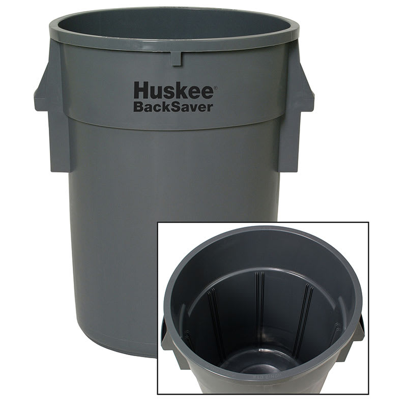 Continental 3210GY 32-gallon Commercial Trash Can - Plastic, Round