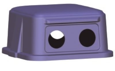 Continental 5556-1 Dome Top w/ Holes For 5555-1 Container