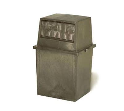 Continental 5765 BN 65-Gal King Kan Trash Can w/ Top Hinged Doors, Brown