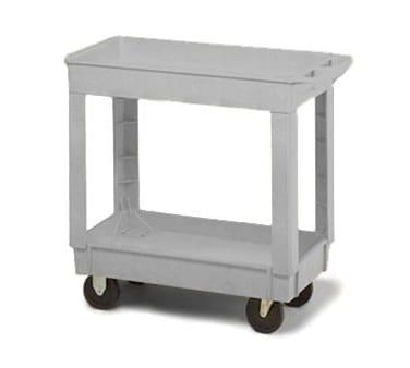 Continental 5800GY Utility Cart w/ 2-Shelves, 400-lb Capacity, Open Base, Gray