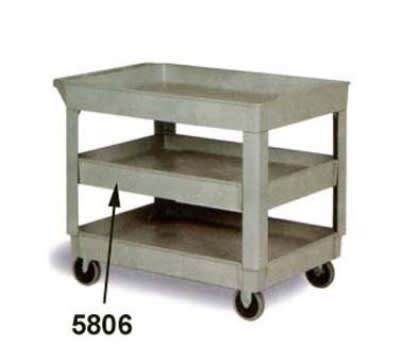 Continental 5806GY Center Shelf For Model 5805 Cart, 200-lb Capacity, Grey