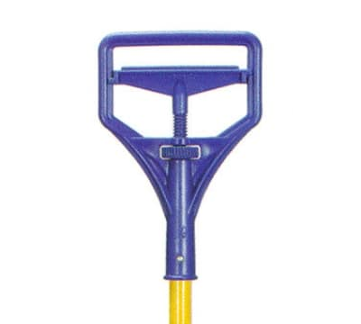 Continental 596 Stirrup Style Mop Handle, 64 x 1.12 x 7.5-in, Yellow & Blue