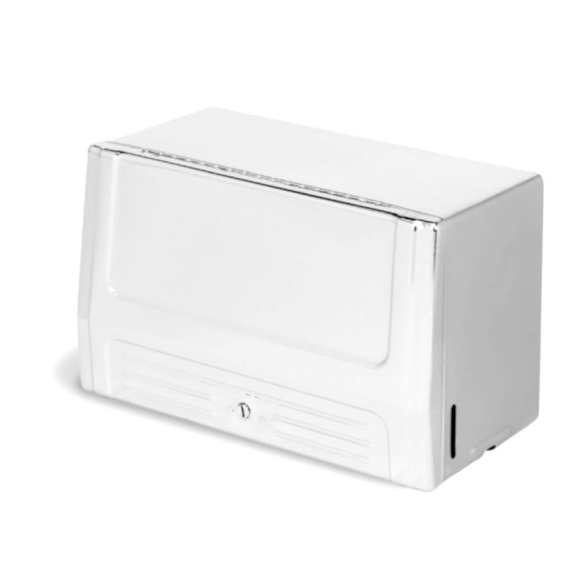 Continental 630W Wall-Mounted Paper Towel Dispenser For Single-Fold Towels, Steel
