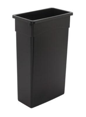 Continental 8322BK 23-Gallon General Purpose Waste Container, Polyethylene, Black