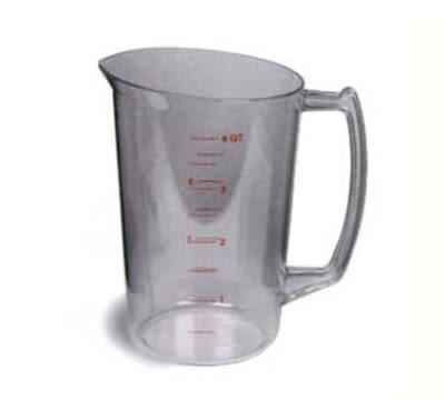 Continental 9828 128-oz Plastic Measuring Cup, Poly-Clear
