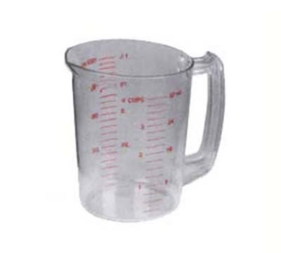 Continental 9832 32-oz Plastic Measuring Cup, Poly-Clear