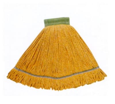 Continental A02802 Wet Mop Head, Launderable, 5-in, Medium, Green, Cotton Blend