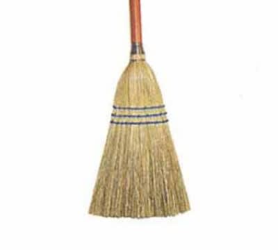 Continental E503600 30-in Lobby Broom, Synthetic Polypropylene, Black
