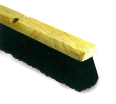 Continental F007024 24-in Polypropylene Floor Sweep w/ Wood Block, 3-in Trim, Black