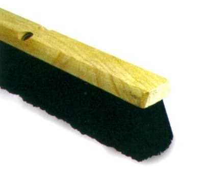 Continental F007118 18-in Polypropylene Floor Sweep w/ Foam Block, 3-in Trim, Black