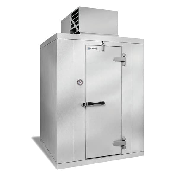 "Kolpak QS6-064-CT R Indoor Walk-In Refrigerator w/ Top Mount Compressor, 5' 10"" x 3' 11"", 115v"