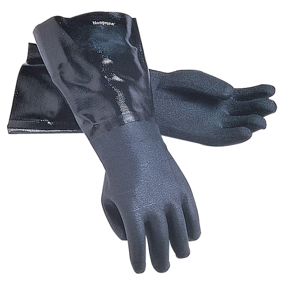 "San Jamar 1214 Lined Neoprene Dishwashing Glove, 14"", Rough Grip, One Size"
