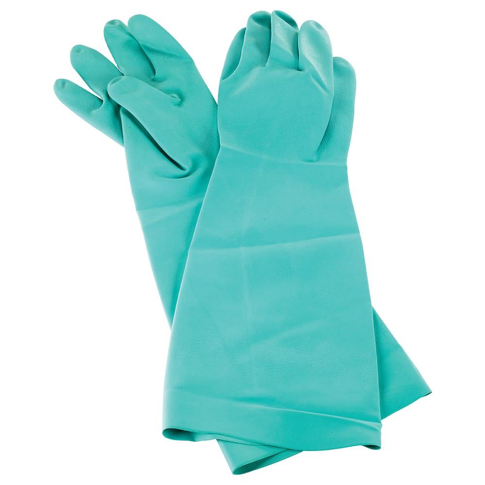San Jamar 19NU-M Nitrile Dishwashing Glove, Medium, Heat Resistant, Green